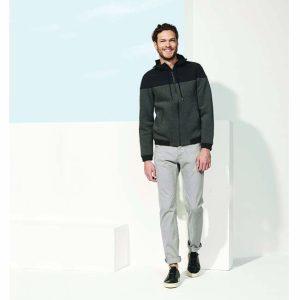 veste à capuche bi-matière