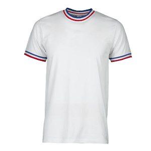 T-shirt encolure et manches Drapeau