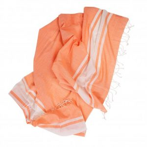 fouta orange WAVE