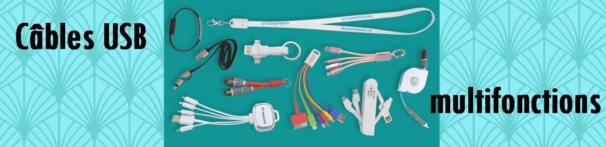câbles multifonctions
