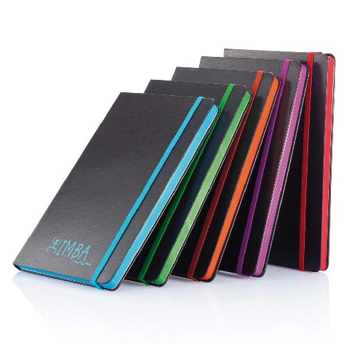 Carnet A5 à couverture rigide et bord coloré
