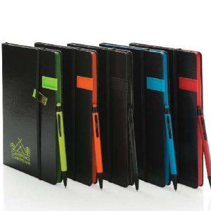 Carnet de notes A5 avec clé USB 8Go et stylo-stylet
