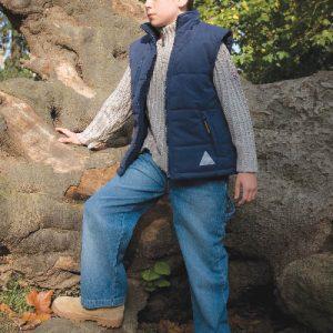 Bodywarmer doublé à capuche Enfant