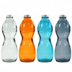 Gourde en verre recyclé